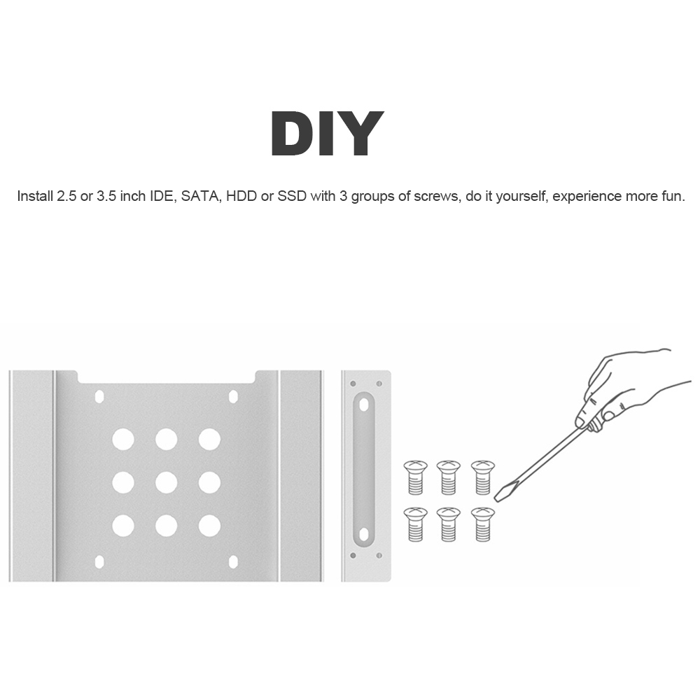 Orico Aluminum Internal Hard Drive Disk Hdd Enclosure Mounting Diagram Bracket 525 To 25 Or 35 Kit With Screws Case In From Computer