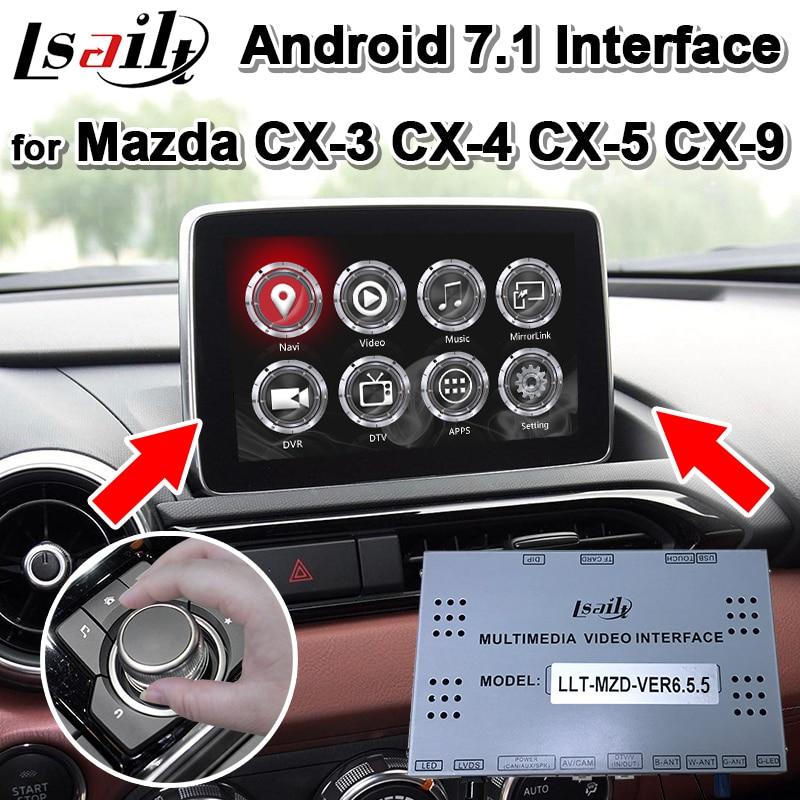 Android 7.1 Boîte de Navigation de généralistes pour Mazda CX-3CX-4 CX-5 CX-9 2013-19 Vidéo Interface prend en charge deux images dans le même écran