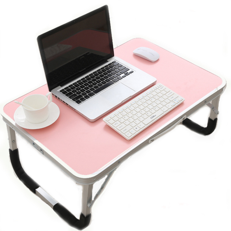 Simple Lapdesk Laptop Table Portable Aluminum Desk Breakfast Tray Lazy Bed Table Larger Study PC Notebook Waterproof Holder