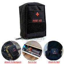 Tragbare First Aid Kit Leere Tasche Mini Bug Out Bag Molle Wasserdicht Für Wandern Reise Hause Auto Notfall Behandlung