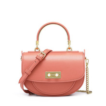 DOODOO Semicircle Crossbody Bags For Woman 2019 Solid color PU Leather Handbags and Purses Female Cross Body Bag Ladies Hand Bag