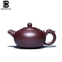 350cc Yixing Purple Clay Teapot Health Zi Mud Raw Ore Long Ming Pot Household Drinkware Chinese Kung Fu Tea Set Puer Tea Kettles