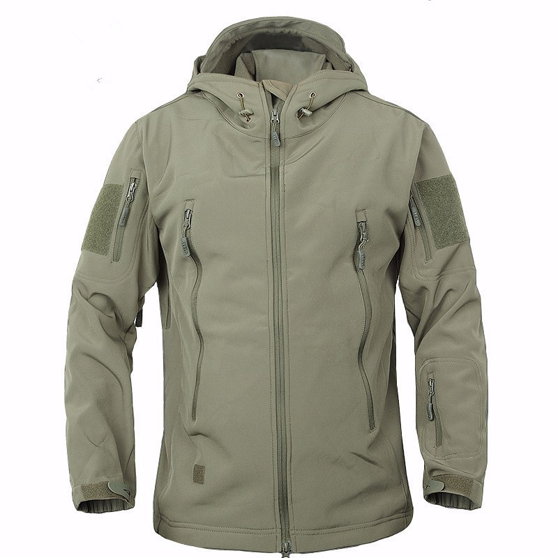 Outdoor jacket Stealth Shark Tactical Military Jacket Sport Softshell jacket men Waterpoof Hunting Camouflage Army polar jacket
