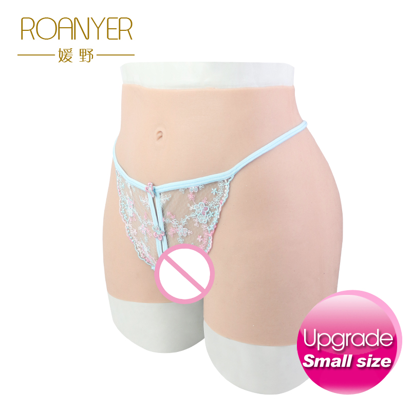Roanyer crossdresser silicone pants with artificial penetrable flase vagina transgender Realistic Shemale Underwear Drag Queen