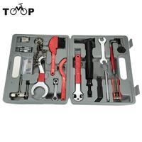 Conjunto de ferramentas de reparo de bicicleta lixada 17 in1 bicicleta ciclismo multi função kits de ferramentas de reparo pedal chave crankset escova chave inglesa|Ferramentas p/ reparo de bicicletas| |  -