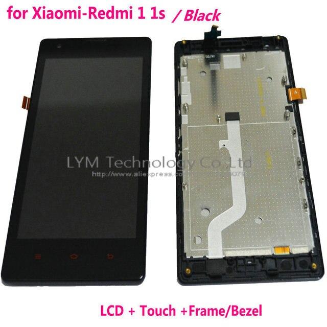 Negro/blanco/rosa lcd + tp + marco para xiaomi redmi 1 s/4.7 ''pantalla lcd + digitizador de la pantalla táctil + replacement frame envío libre + herramienta
