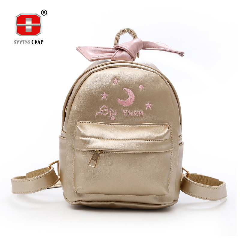 Sweet Lady Backpacks Leather for Teenage Girls Small Soft Embroidered Solid Women Back Pack Female Bagpack mochila New