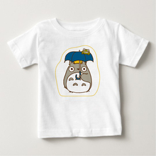 2018 Children Anime My Neighbor Totoro Print Funny T-Shirts Kids Summer Top Girls Boys Short Sleeve Clothes Baby T shirt
