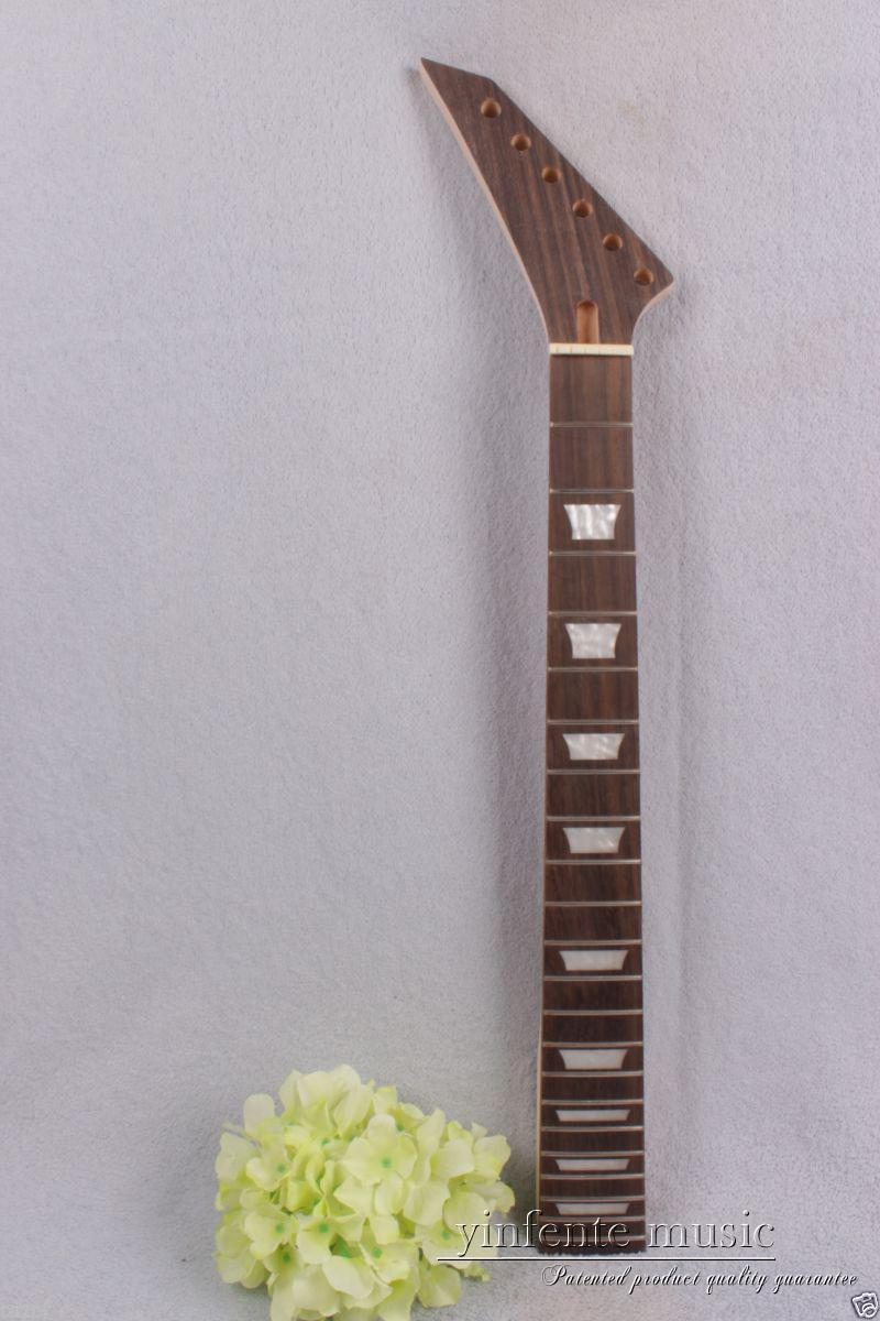 1pcs electric guitar neck maple wood 22 fret 25.5'' rose wood Truss Rod #737 new electric guitar neck maple 24 fret 25 5 truss rod unfinished no frets nice