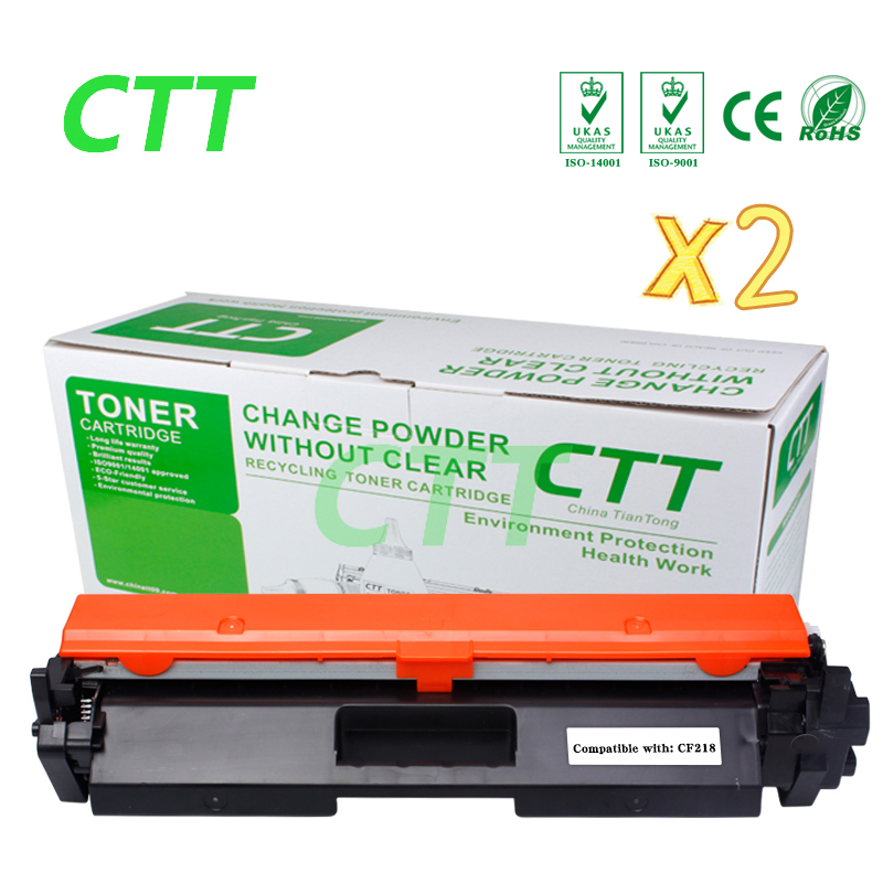 2x Black CF218A CF218 18A 218A Toner Cartridge for HP LaserJet Pro M104a M104w 104 132 132a M132fn M132fp M132fw M132nw no chip replacement chip for hp laserjet cb540a print cartridge – black toner refill for hp1215 1515 1518