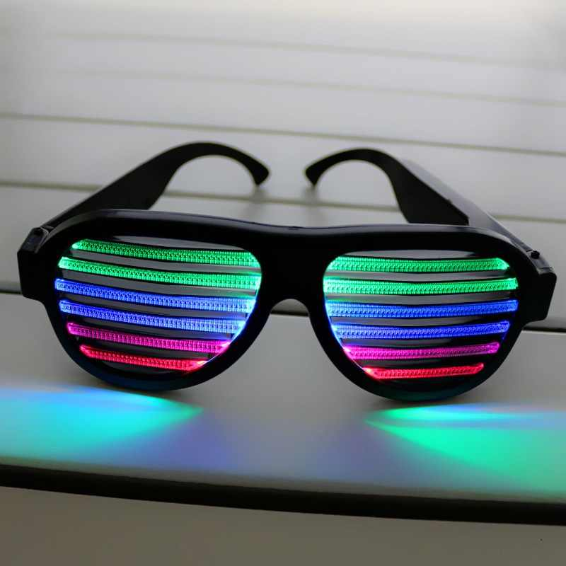 Активированный световой/звуковой контроль очки с голосовой активацией мигающие очки розовые USB перезаряжаемые очки с мигающими светодиодами звук и музыка