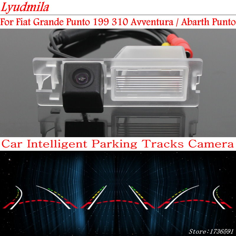 Lyudmila Car Intelligent Parking Tracks Camera FOR Fiat Grande Punto 199 310 Avventura / Abarth Punto Rear View Camera / HD CCD