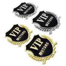 2PCS VIP Car Body Sticker Metal Rear Trunk Emblem Badge Auto Decal for Hyundai Volkswagen Chevrolet KIA Volvo Peugeot BMW Dodge river auto a111aa vip детский