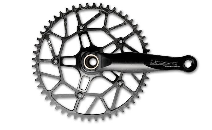 Litepro Super creux bmx pliant vélo pédalier CNC simple plateau manivelle 50 T 52 T 54 T 56 T 58 T avec GXP BB BCD 130 170mm