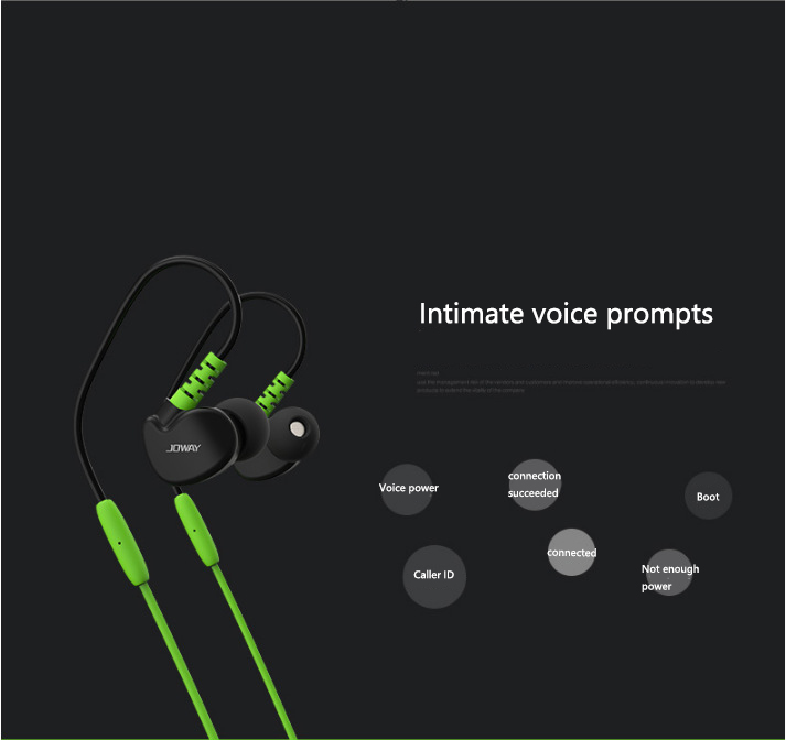JOWAY H13 new microphone sports waterproof Bluetooth headset stereo high quality voice noise reduction large compatibility