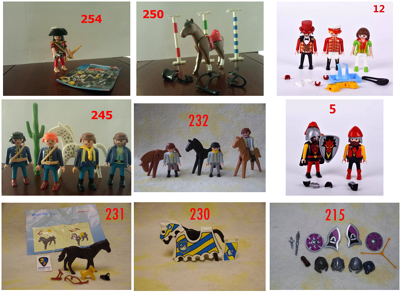 9 styles playmobil kits kits action figures mini for Playmobil pferde set
