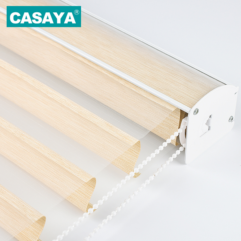 High Grade Shangri-la Blinds Child Safety Transparent Window Curtains Triple Roller Blinds For Living Bed Room Customized Size