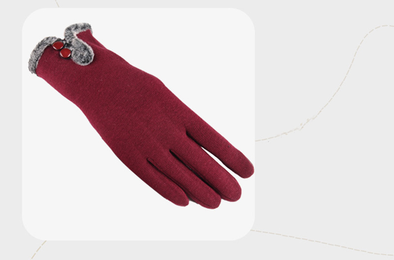 Comfortable and Warm Non Inverted Touch Screen Gloves for Women with Sensitive Touch Screen Function without Hand Exposing to Cold 14