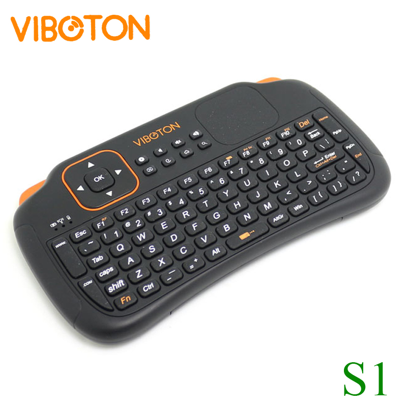 VIBOTON Wireless-Keyboard Android Full-Qwerty Touchpad Free-Dhl Mini S1 for Tv-Box/pc