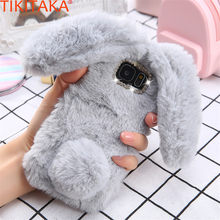 Winter Warm Rabbit Ears Case For Galaxy A J Series Plush Furry Phone Cases For Samsung A3 A5 A7 J3 J5 J7 2015 2016 2017 Case Hot(China)