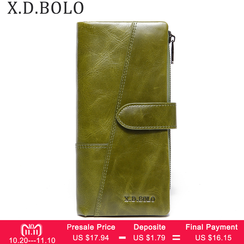 BOLO Women Long Clutch Wallet Large Capacity Wallets Female Purse Lady Purses Phone Pocket Card Holder Carteras