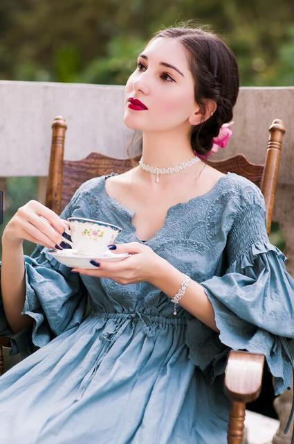 Hoge Kwaliteit Jurk Elegante Nachtkleding Nachthemd Vrouwen Nachtjapon Zwangere vrouwen Nachtkleding Jurken Bride Dress Hoge Kwaliteit