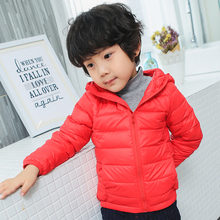 2017 2-11Y Ultra light 90% duck down jacket for baby Girls boys coat winter autumn children clothes outwear cheap free delivery