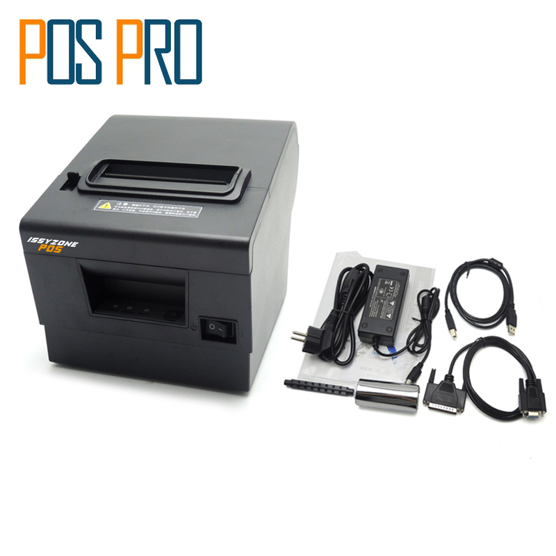 ITPP068 80mm thermal printer pos printer Automatic cutting USB+Serial/LAN/Ethernet For restaurant Kitchen Supermarket Printer 60 50mm 2000 sheets per roll single row thermal transfer adhesive paper can customize use sticker printer empty shipping label