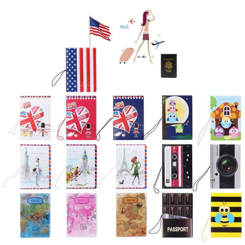 Fashion Korea Style 3D Passport Holder PVC Travel Passport Cover Case Card ID protector dedicated nice travel passport case id card cover holder protector organizer super quality card holder