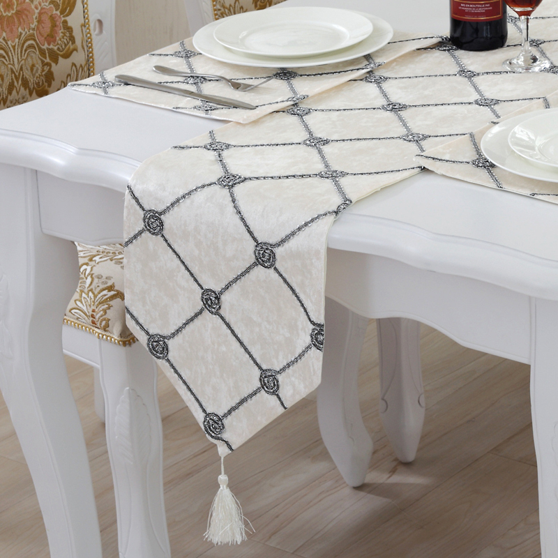 Flannel Table Runners Modern Chemin De Table Table Runners For Wedding Party Camino De Mesa Tafelloper Tablecloth Bed Flag Home