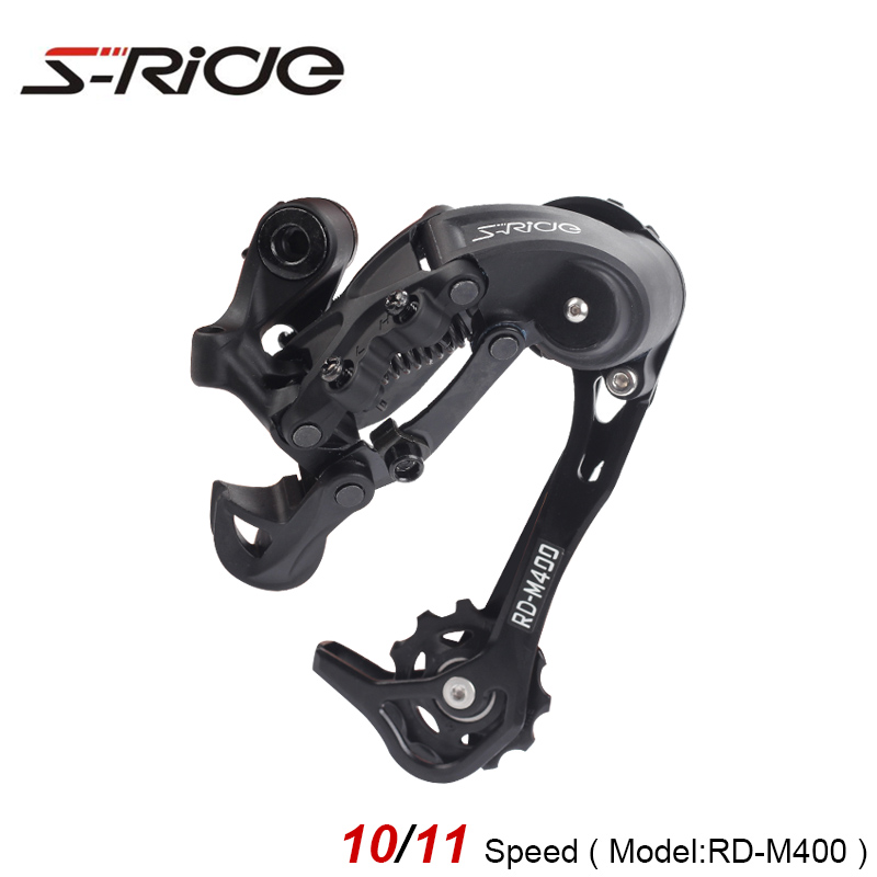 S-Ride RD-M400 10/11 Speed Mountian Bike Long Cage Rear Derailleur Compatible With SHIMANO Cycling MTB Bicycle Gear Parts 306g microshift xcd sl m860 3 conjoined dip derailleur 10 speed double fd m853 rd m85l mtb bike groupsets compatible for shimano