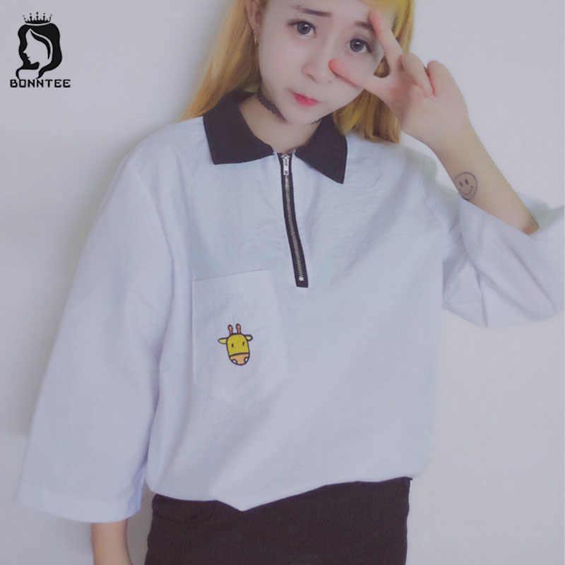 女性ポロシャツポケット刺繍女性の夏の韓国学生レディースルーズ BF 半袖女性女の子トレンディ通気性