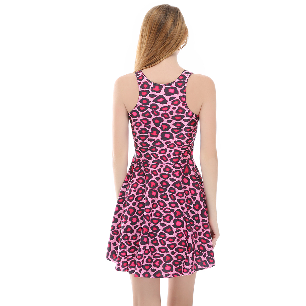 Hot sale New arrival Fashion 3D Women Pink Leopard print slim Expansion  sleeveless dress drop shipping  Free shipping-in Dresses from Women s  Clothing on ... 671f8cc91