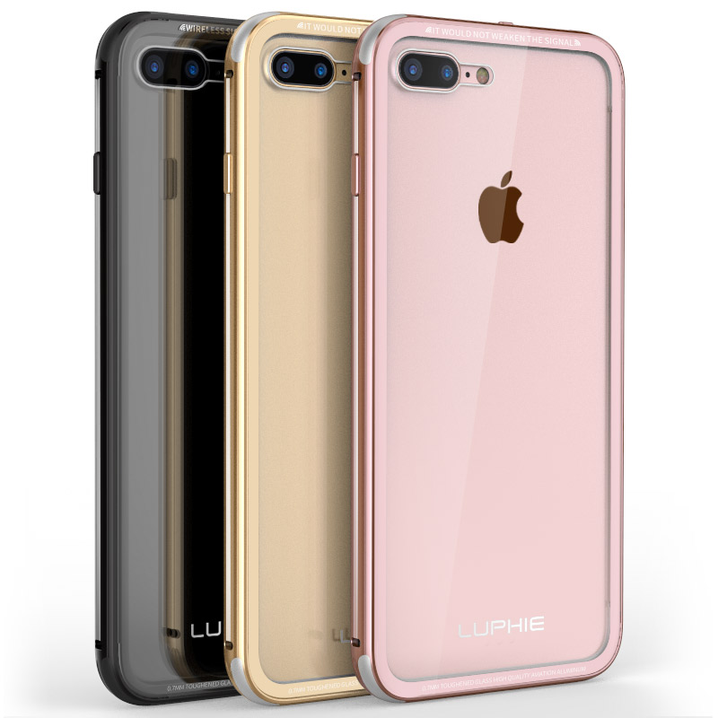 Цена за Для Apple iPhone 6 Бампер Защитный чехол Камера алюминий + стеклянная крышка ударопрочный телефон металлический бампер для iPhone 6 S Чехол iPhone6