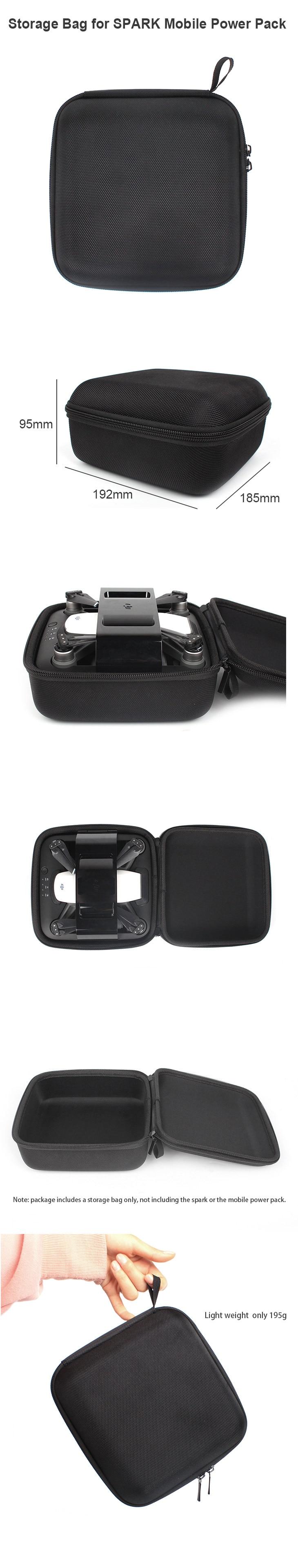 Portable Handheld Storage Bag Box Case for DJI SPARK Mobile Power Pack for DJI SPARK Camera Drone