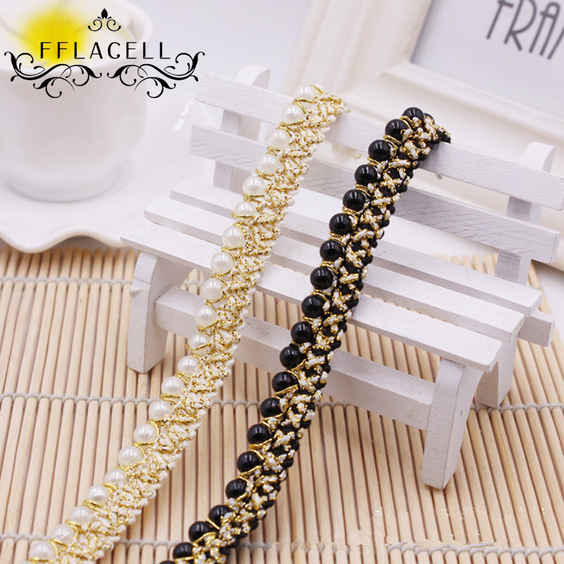 Gold KUPOO 33ft Artificial Pearls Beads Chain Garland Flowers DIY Wedding Party Decoration