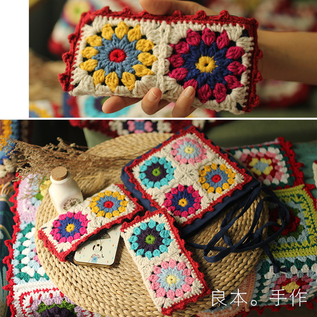 New Arrival crochet bag mobile phone Knitting Women Handbag Fashion ...
