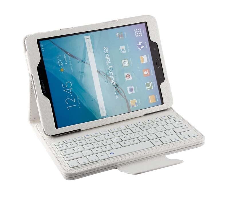 New amovible sans fil Bluetooth russe / hébreu / espagnol clavier Stand étui en cuir PU pour Samsung Galaxy Tab S2 9.7 T810 T815