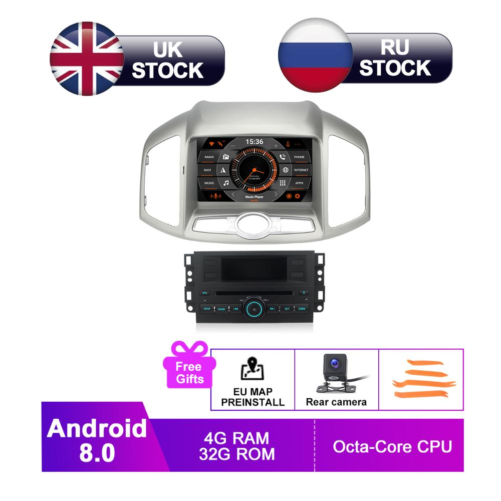 8 IPS Android 8.0 Car GPS Stereo For Chevrolet Captiva 2012 2013 2014 2015 Auto Radio DVD Navigation Audio Video Backup Camera