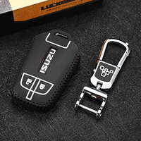 car key case chain for isuzu truck MU X D MAX 2017 2018 Car Key Cover wallet holder remote genuine leather