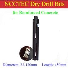 32-120мм* 450 мм NCCTEC Коронная Лазерная сварная Алмазная сухая сверла/1-1/4 ''-4,7''* 18 ''железобетонные сверла
