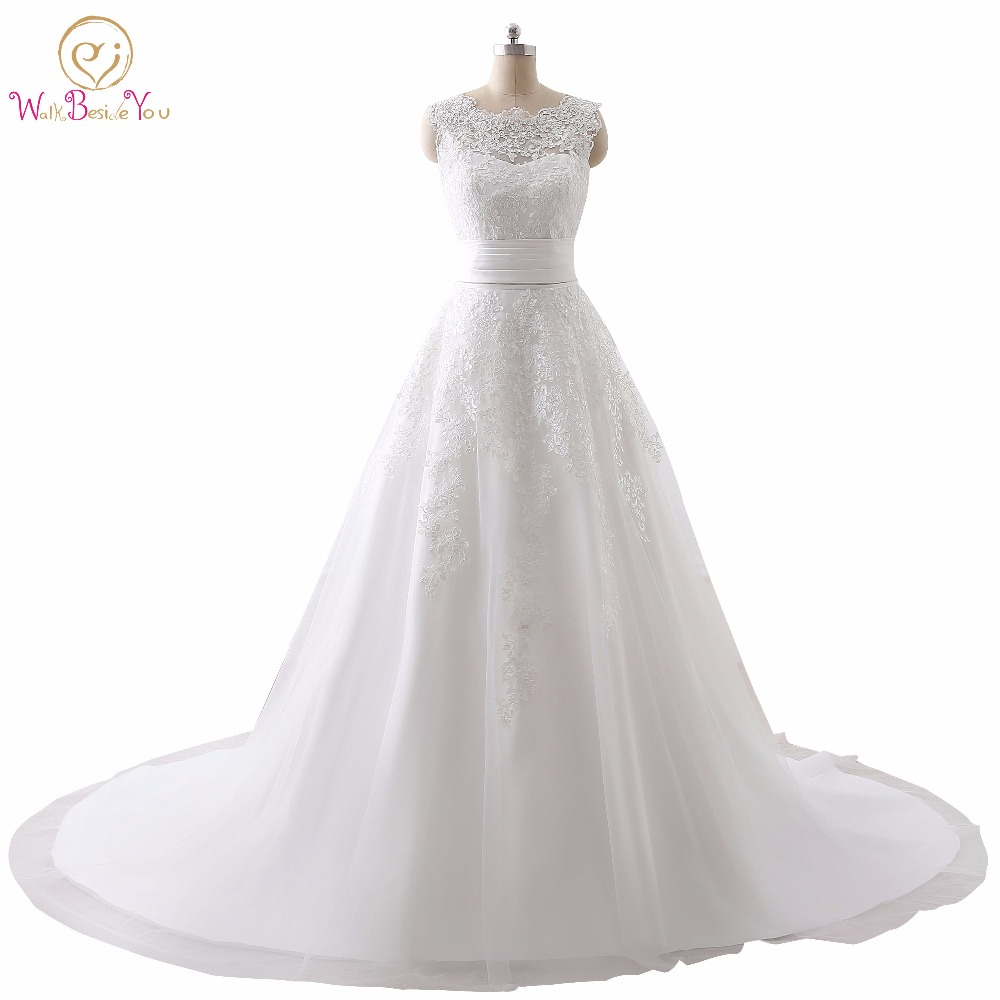 Luxury Wedding Dress Real Photo Cheap Bridal Gowns Lace Wedding Dresses Removable Skirt A line Detachable