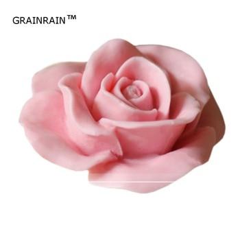 Grainrain Мыло плесень Ремесло Роза силиконовые Форма для изготовления мыла свечи смолы ручной работы
