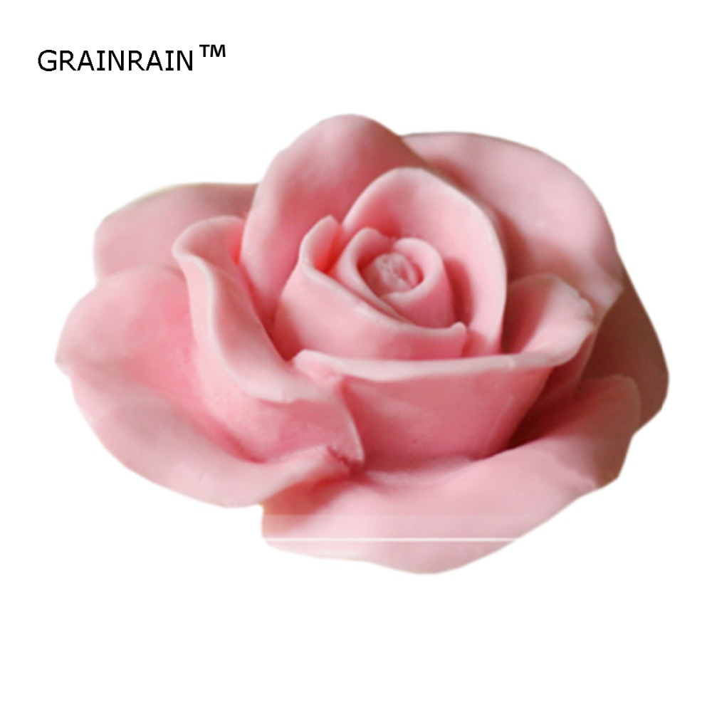 Grainrain Soap Mold Craft Rose Silicone Soap Making Mould Candle Resin Handmade Mold