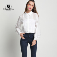 Luxury Women Blouse Runway White Shirt In Woman Spring Summer Office Ladies Shirts
