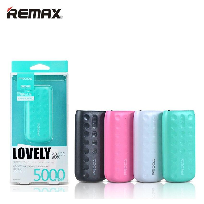 imágenes para REMAX mini Lindo Banco de la Energía 5000 mAh Portátil de Carga Móviles Cargador de Batería Externo powerbank batería externa Universal