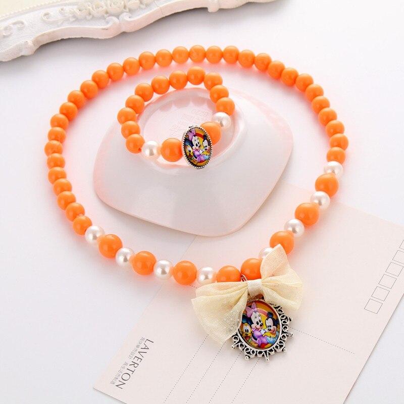 Terbaru Putri Beads Kalung Gelang Perhiasan Set Hadiah Natal untuk - Perhiasan fashion - Foto 6