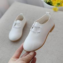 New Spring Autumn Kids Leather Shoes For Boys Girls Soft Sole White Children Casual Shoes For School Party Dance Sneakers