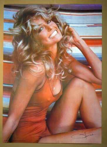 FARRAH FAWCETT 1976 SILK POSTER Decorative painting  24x36inch