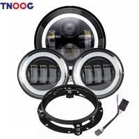 7 LED Headlight Bracket Mounting Ring for Harley Davidson 4 1/2 LED Fog Lights for Road Glide Street Glide Electra Glide Ultra